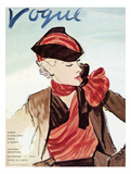 "Vogue Cover - September 1934 Regular Giclee Print by Carl ""Eric"" Erickson"
