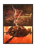 Gourmet Cover - February 1953 Regular Giclee Print by Henry Stahlhut
