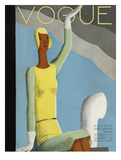 Vogue Cover - December 1929 Regular Giclee Print by Eduardo Garcia Benito