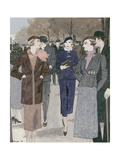 Vogue - January 1933 Regular Giclee Print by Pierre Mourgue