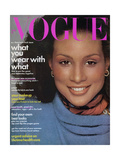 Vogue Cover - August 1974 Regular Giclee Print by Francesco Scavullo