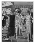 Vogue - December 1927 Regular Giclee Print by Pierre Mourgue