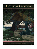 House & Garden Cover - September 1929 Giclee Print by Pierre Brissaud