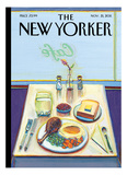 The New Yorker Cover - November 21, 2011 Reproduction procédé giclée par Wayne Thiebaud