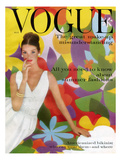 Vogue Cover - May 1959 - Flower Power Regular Giclee Print by William Bell