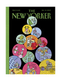 The New Yorker Cover - December 10, 2007 Regular Giclee Print by Joost Swarte