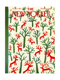 The New Yorker Cover - December 21, 1957 Regular Giclee Print by Abe Birnbaum