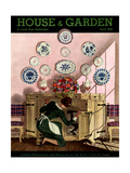 House & Garden Cover - April 1935 Regular Giclee Print by Pierre Brissaud
