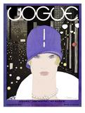 Vogue Cover - March 1927 Regular Giclee Print van Georges Lepape