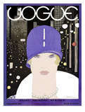 Vogue Cover - March 1927 Regular Giclee Print by Georges Lepape