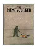The New Yorker Cover - February 16, 1987 Giclee Print by Eugène Mihaesco