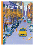 The New Yorker Cover - November 7, 2011 Reproduction procédé giclée par Bruce McCall