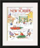 The New Yorker Cover - December 10, 1984 Framed Giclee Print by Anne Burgess
