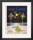 The New Yorker Cover - January 16, 1965 Framed Giclee Print by Saul Steinberg