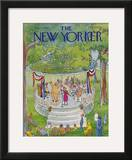 The New Yorker Cover - July 7, 1980 Framed Giclee Print by George Booth