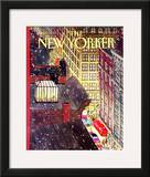The New Yorker Cover - December 7, 1992 Framed Giclee Print by Roxie Munro