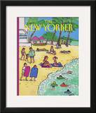 The New Yorker Cover - January 20, 1992 Framed Giclee Print by Barbara Westman