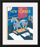 The New Yorker Cover - November 25, 1991 Framed Giclee Print by Kathy Osborn