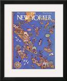 The New Yorker Cover - March 5, 1927 Framed Giclee Print by Ilonka Karasz