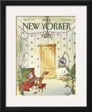 The New Yorker Cover - January 23, 1984 Framed Giclee Print by George Booth