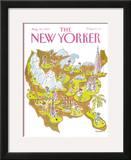 The New Yorker Cover - August 28, 1989 Framed Giclee Print by James Stevenson
