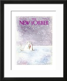 The New Yorker Cover - February 8, 1988 Framed Giclee Print by Ronald Searle