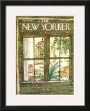 The New Yorker Cover - January 9, 1978 Framed Giclee Print by George Booth
