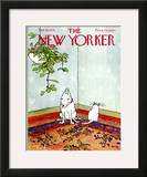 The New Yorker Cover - February 16, 1976 Framed Giclee Print by George Booth