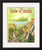 The New Yorker Cover - September 17, 1990 Framed Giclee Print by Bob Knox