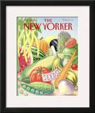 The New Yorker Cover - March 26, 1990 Framed Giclee Print by Bob Knox