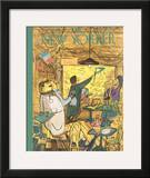 The New Yorker Cover - April 1, 1950 Framed Giclee Print by Ludwig Bemelmans