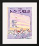 The New Yorker Cover - February 17, 1992 Framed Giclee Print by James Stevenson