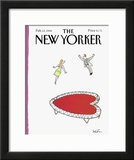 The New Yorker Cover - February 12, 1990 Framed Giclee Print by Arnie Levin