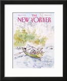 The New Yorker Cover - July 27, 1992 Framed Giclee Print by Ronald Searle