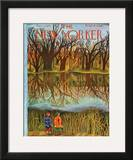 The New Yorker Cover - December 1, 1945 Framed Giclee Print by Ilonka Karasz