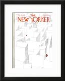 The New Yorker Cover - February 13, 1978 Framed Giclee Print by Robert Weber