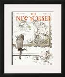 The New Yorker Cover - December 5, 1988 Framed Giclee Print by Ronald Searle