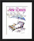 The New Yorker Cover - June 10, 1991 Framed Giclee Print by Ronald Searle