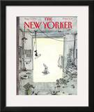 The New Yorker Cover - August 17, 1992 Framed Giclee Print by George Booth