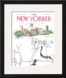 The New Yorker Cover - March 19, 1990 Framed Giclee Print by Ronald Searle