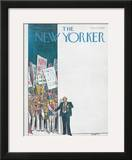 The New Yorker Cover - August 11, 1980 Framed Giclee Print by Charles Saxon