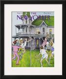 The New Yorker Cover - August 17, 1981 Framed Giclee Print by Charles Saxon