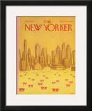 The New Yorker Cover - February 18, 1974 Framed Giclee Print by Robert Weber