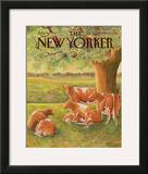 The New Yorker Cover - August 10, 1987 Framed Giclee Print by Jenni Oliver