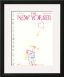 The New Yorker Cover - February 14, 1977 Framed Giclee Print by William Steig