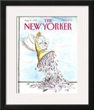 The New Yorker Cover - August 13, 1990 Framed Giclee Print by Ronald Searle
