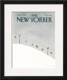 The New Yorker Cover - February 27, 1984 Framed Giclee Print by Abel Quezada