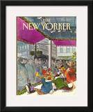 The New Yorker Cover - December 7, 1981 Framed Giclee Print by Charles Saxon