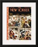 The New Yorker Cover - January 4, 1941 Framed Giclee Print by Ilonka Karasz