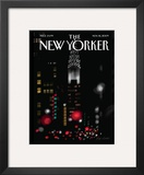 The New Yorker Cover - November 16, 2009 Framed Giclee Print by Jorge Colombo